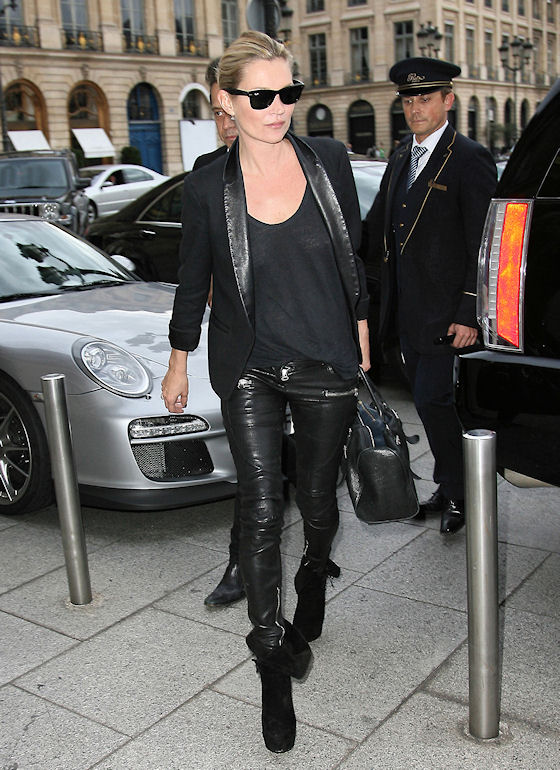 Kate Moss Attends Paris Fashion Week